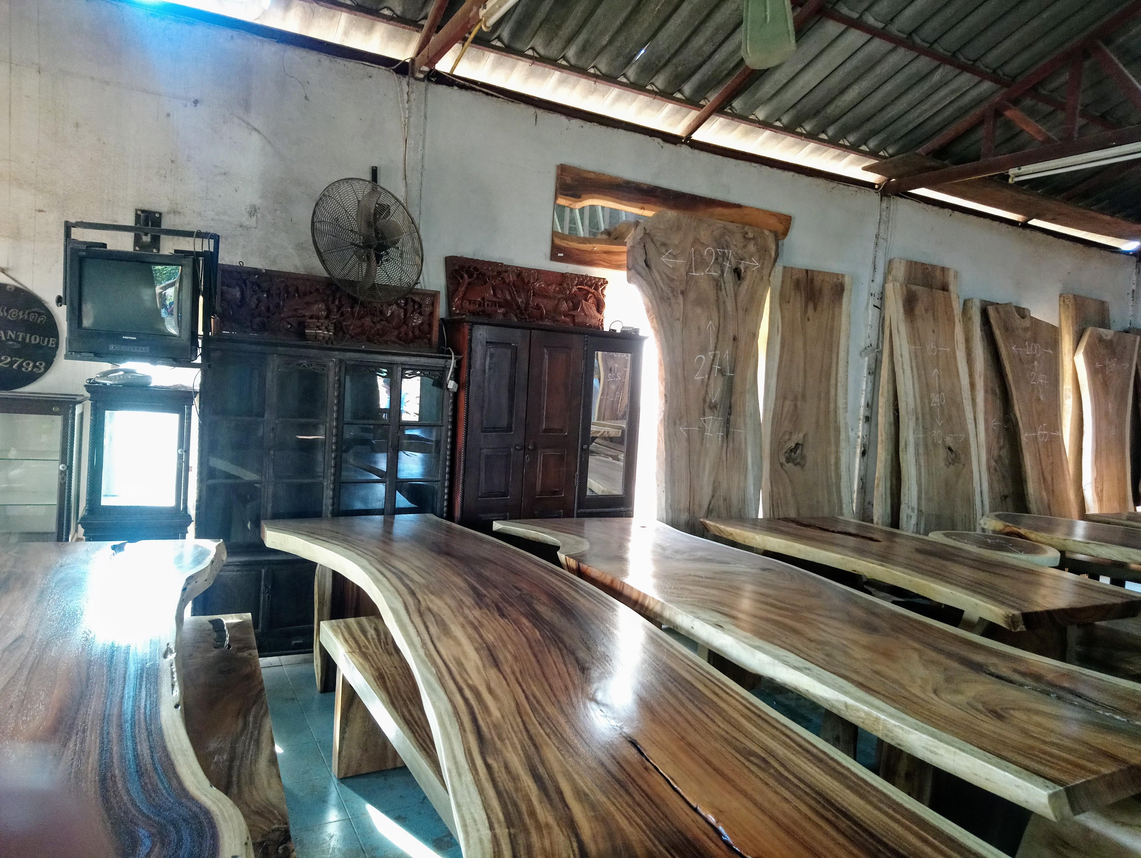 Large Rain Tree Wood Table_1599