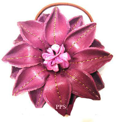 Leather Flower for hair band-h10