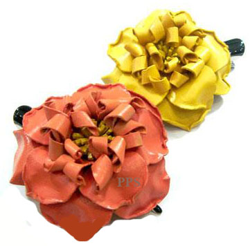 Leather Flower for hair Clips-g5
