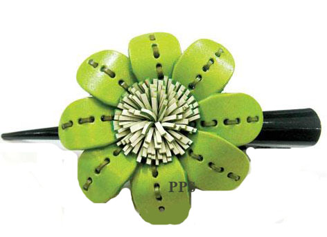 Leather Flower for hair Clips-g16