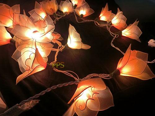 Nylon flower string lights-24