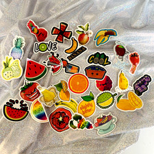30pcs Healthy Fruit Stickers Set Decorative Stationery Stickers Scrapbooking DIY Diary Album sticker suitcase decals