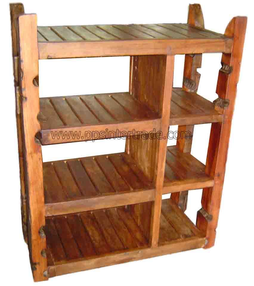 Antique teak shelf-4