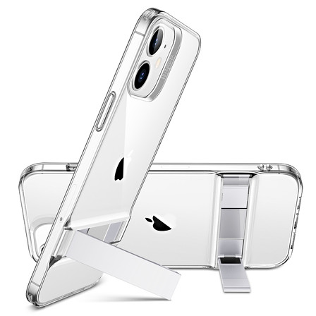 ESR Hot Sale Metal KickStand Military Grade for iphone 12 iPhone case with flexible bumper protective phone cover