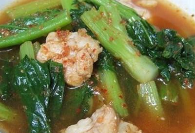 แกงไก่ใส่ผักกาด-Kang Kai Sai Pad Kad