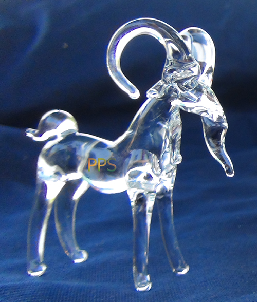 blown glass-Goat
