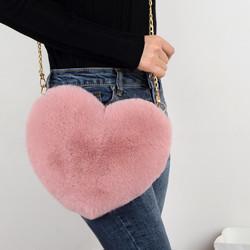 2020 Fashion Heart Shaped Bag Love Shape Shoulder Bag Lovely Gift Woman Bag Shaped Like A Heart