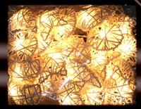 Rattan heart lights