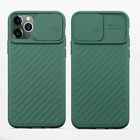 Creative Camera Protection Phone Case for iPhone 12 with Sliding PC Cover for Lens, 11 pro max TPU Anti-skid Shockproof Case