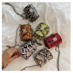 2020 Mini Snake Skin Small Purse Bucket Women Leather Coin Purse Hand bags For Young Lady