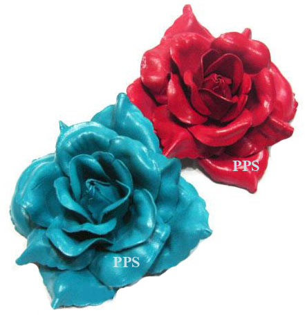 Leather Flower brooch-f3