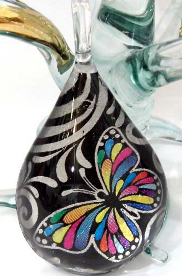 Hand blown Glass Pendant-95