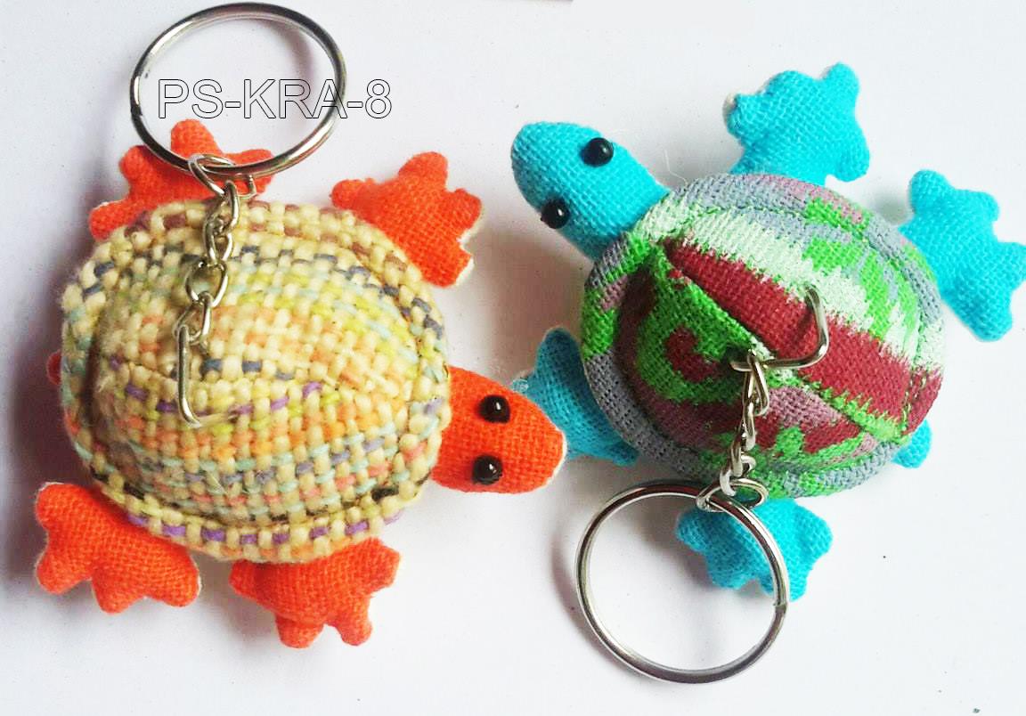 Cotton turtle keyring-PS-KRA-8