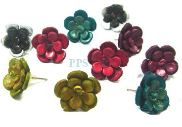 Leather Flower for earring-e8