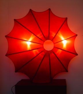 Silk Lamp sun shape ( large)