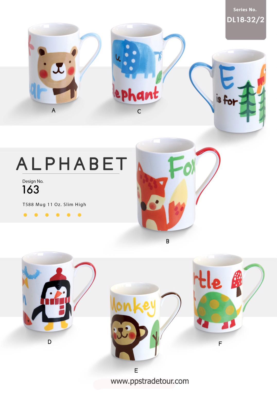Alphabet-Ceramic Mug 11 Oz.