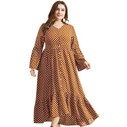 wholesale  Lounge Wear pleated Kaftan Abaya  Plus size Muslim dress Abaya