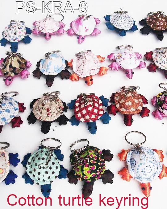 Cotton turtle keyring-PS-KRA-9