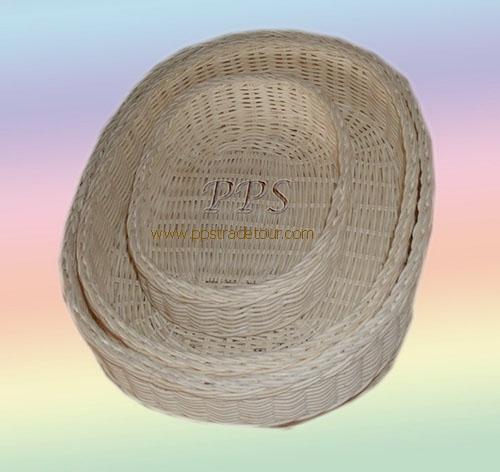 Rattan oval Basket C1925-1