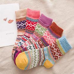 Youki Wholesale good quality Woman Winter Christmas Wool ladies Thicken Socks