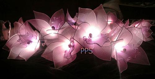 Nylon flower string lights-21