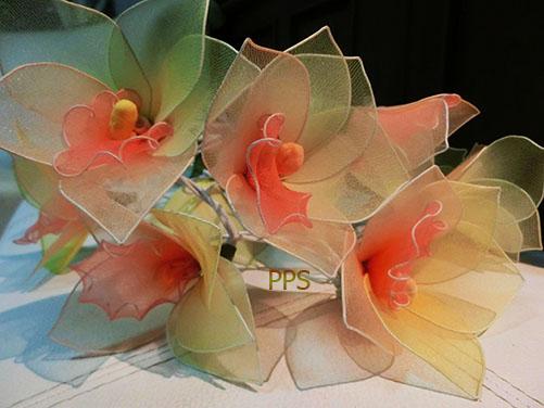 Nylon flower string lights-25