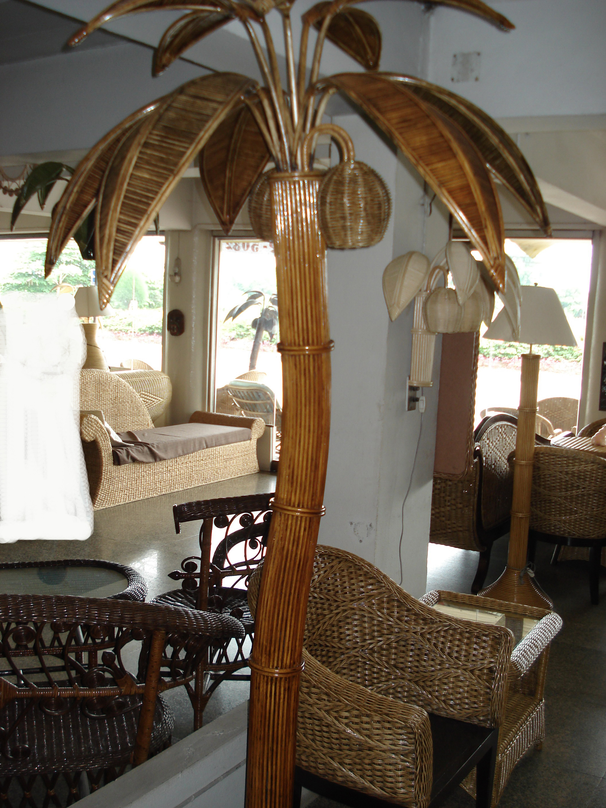 Palm tree from rattan