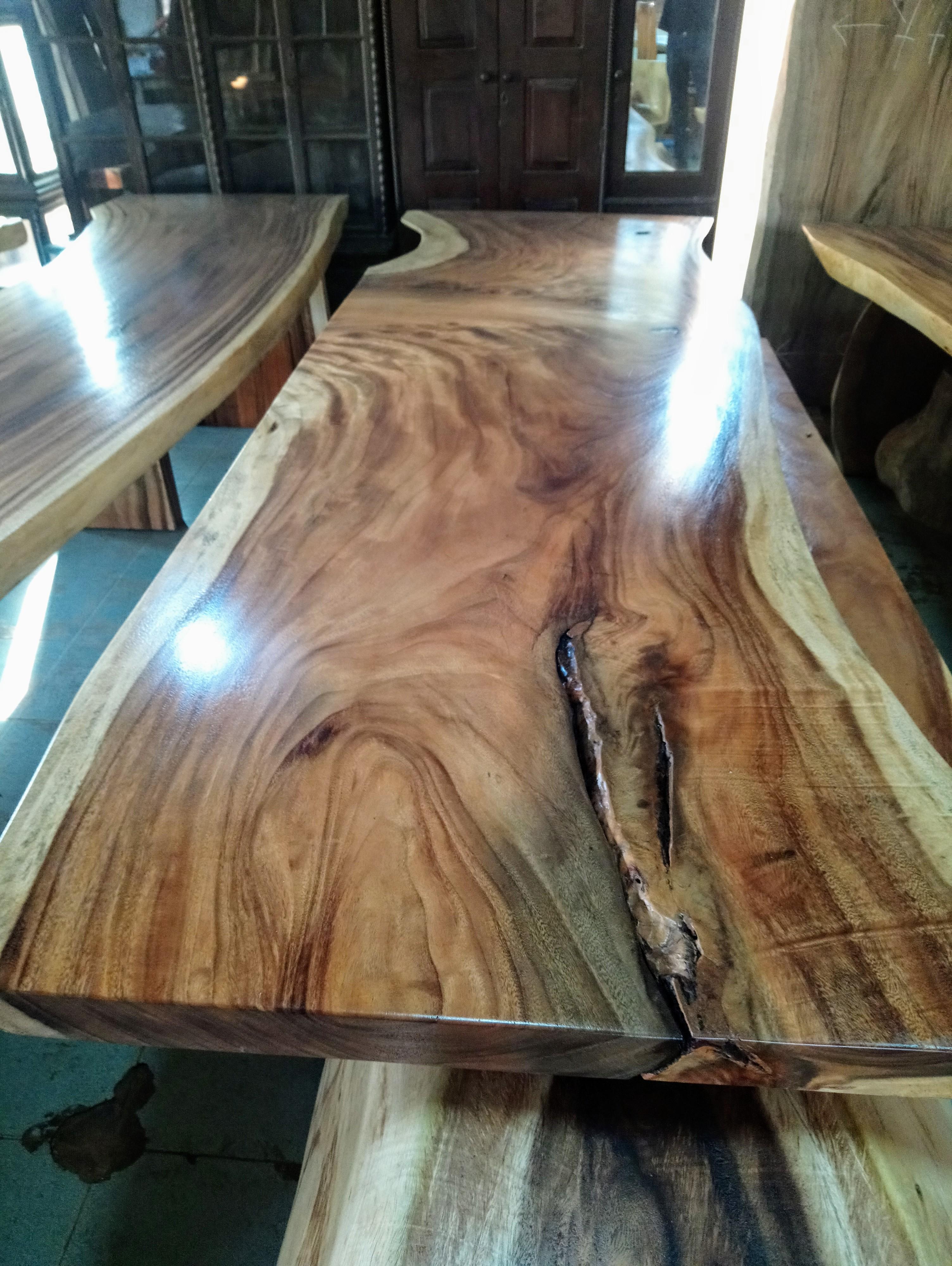 Large Rain Tree Wood Table_1585