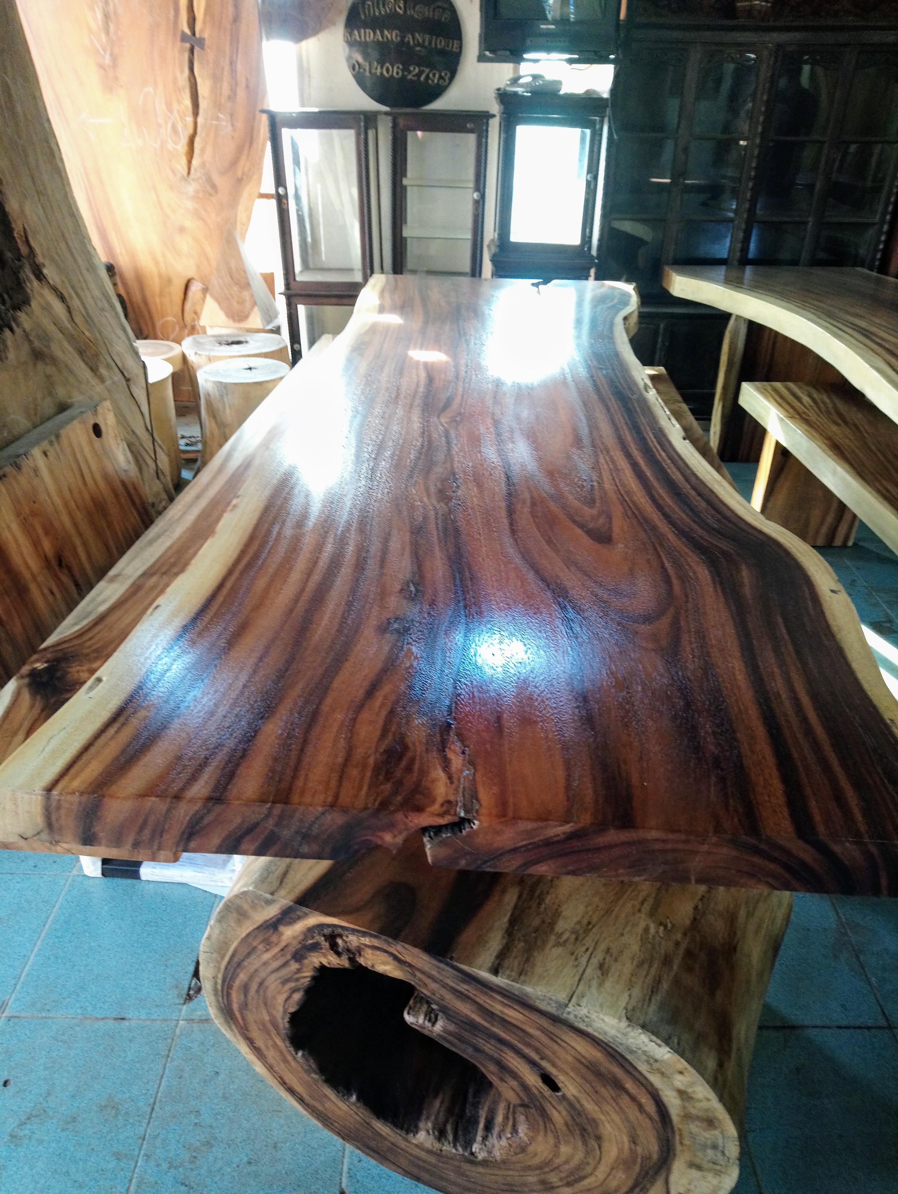Large Rain Tree Wood Table_1583