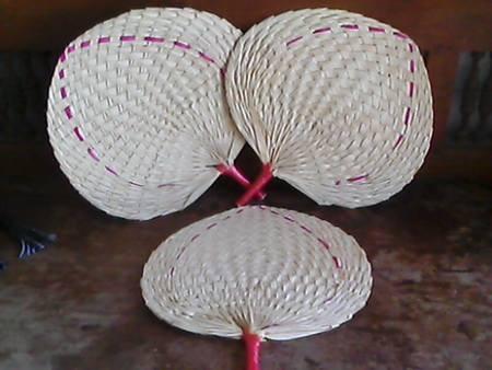 fan from palm leaf
