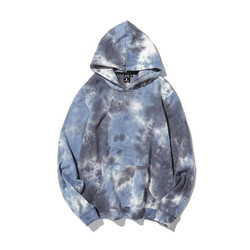 Casual style custom color 100% cotton men pocket sweatshirt tye dye hoodies