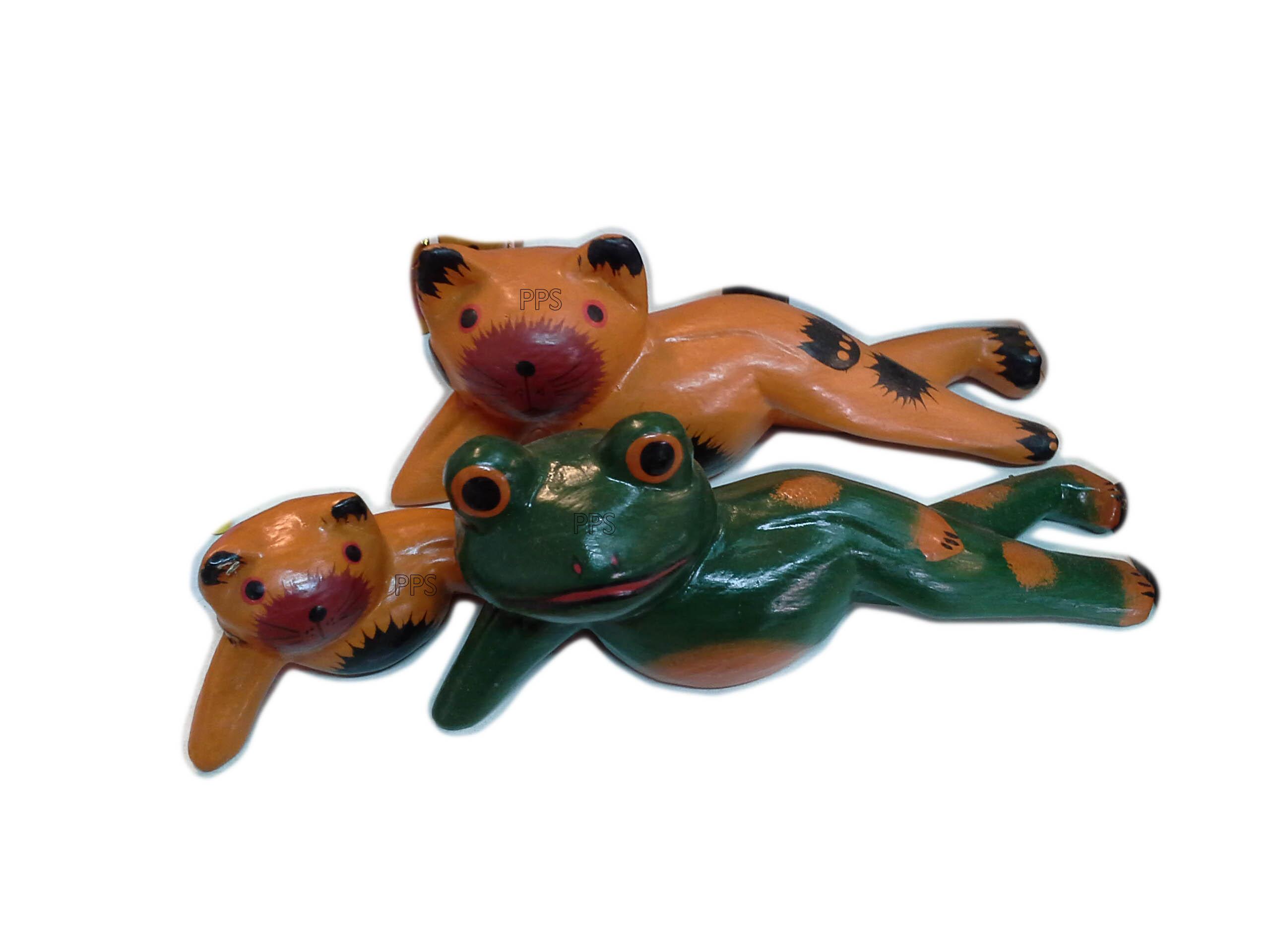 Frog, Cat, Pig Recline-1
