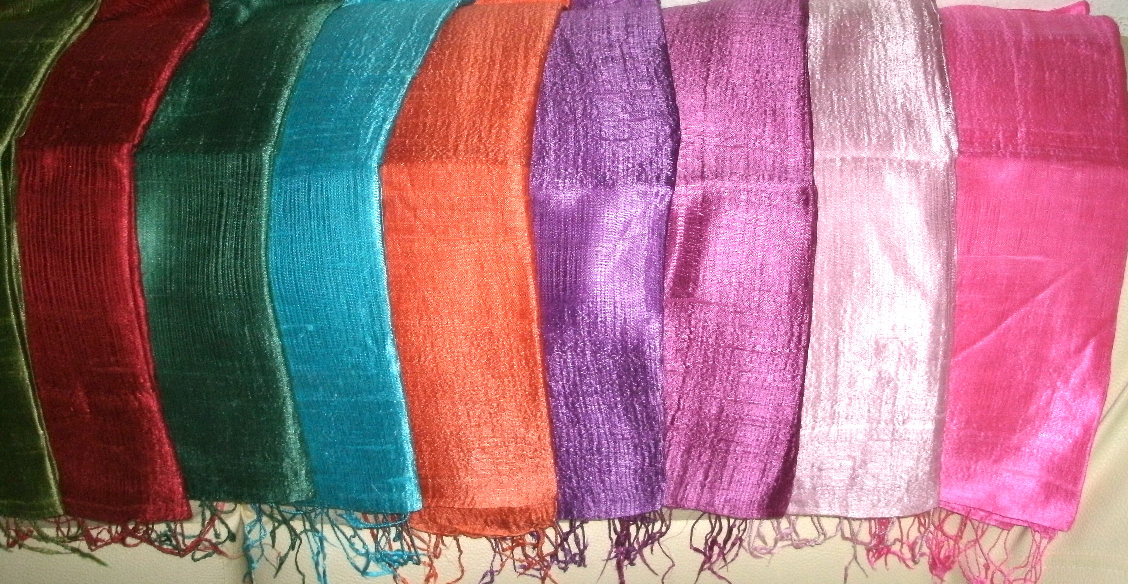 Plain color silk scarves