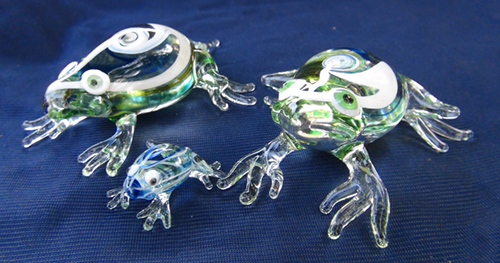 blown glass-Frog