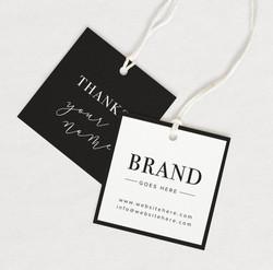 Cheap Printed Garment Paper Hangtag Custom Clothing Label Hang Tag