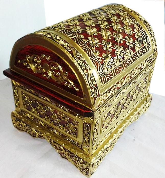 Lacquer Wood Treasure Box 2090-1
