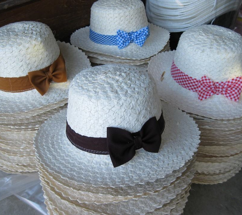 women hats from palm leaf