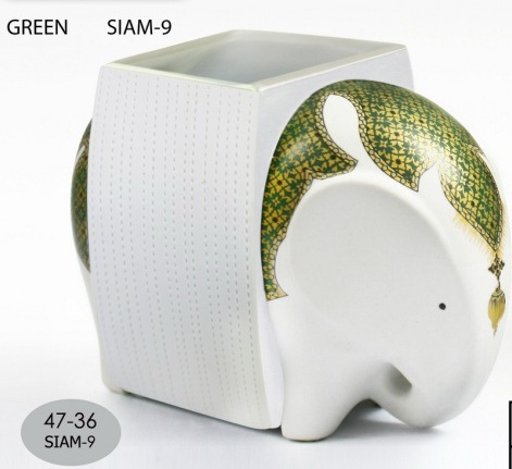Elephant Ceramic Vase-12