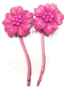 Leather Flower for hair Clipsg53