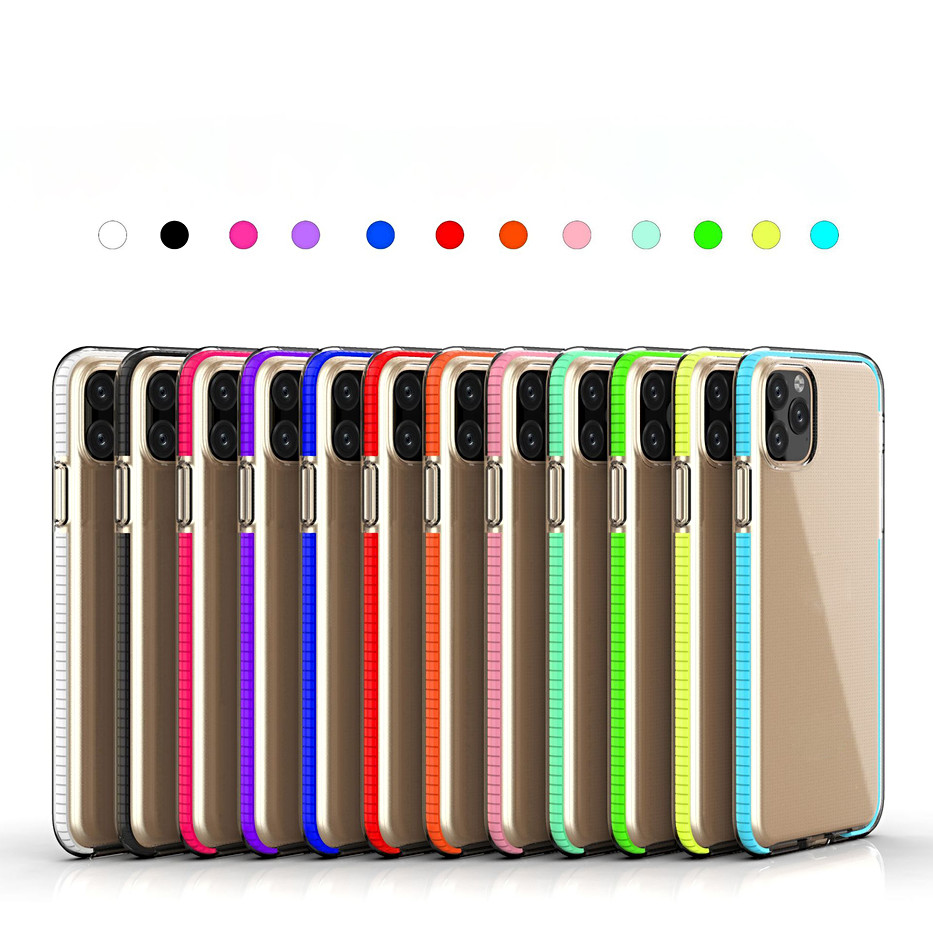 12 colors fashion thin Two-color tpu for iphone 11 12 pro Max