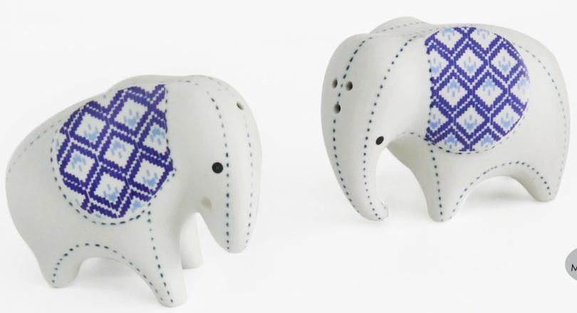 Elephant Ceramic Vase-13