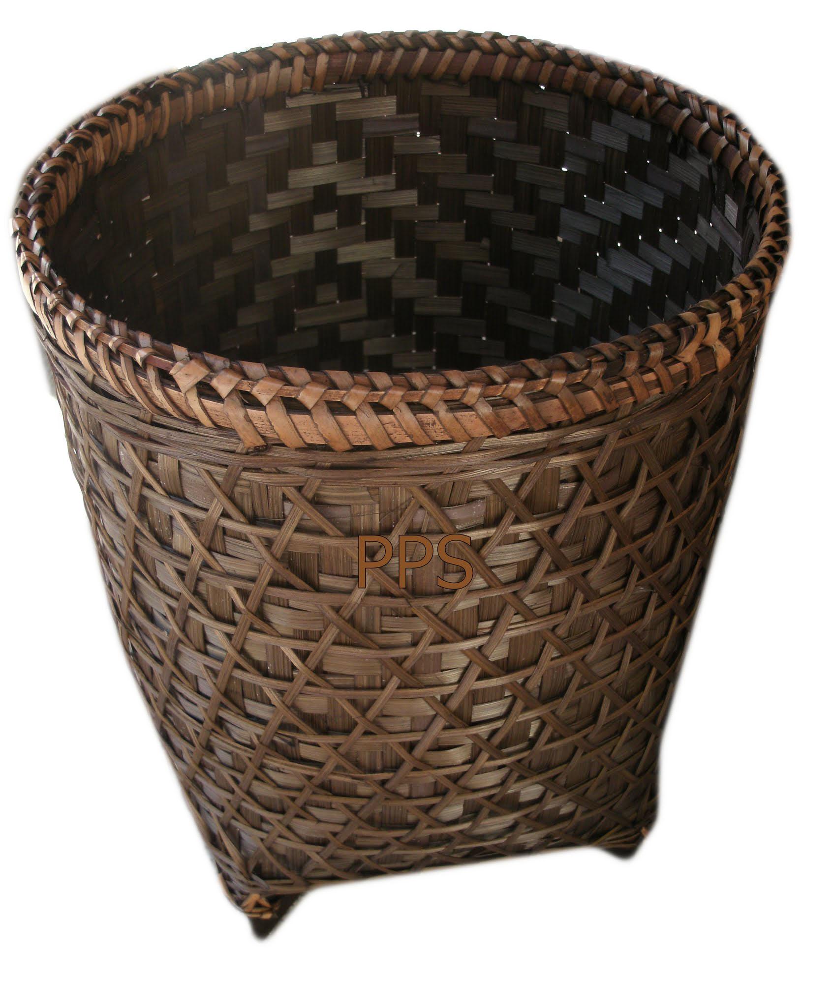 Trash bin from bamboo PS-BB-40