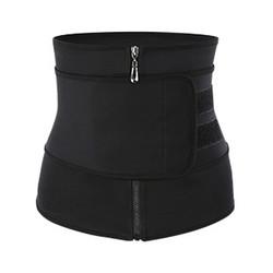Women Slimming Workout Compression Zipper Body Shaper One Strap Neoprene Waist Trainer