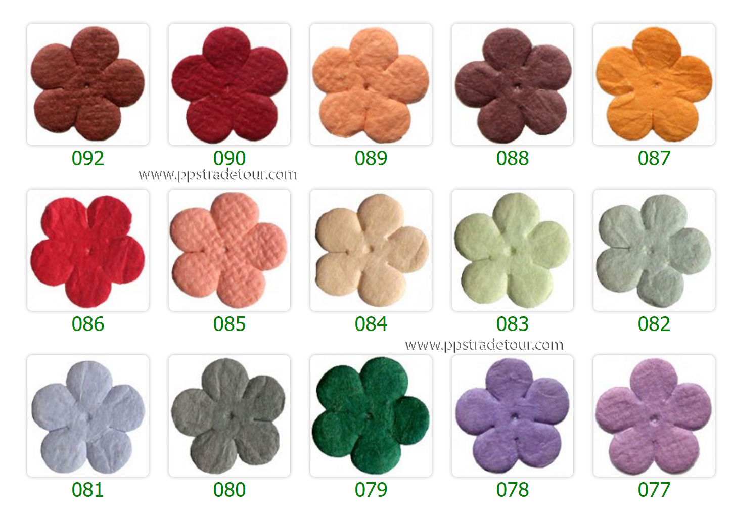 Mulberry Paper Flower Color Chart-7