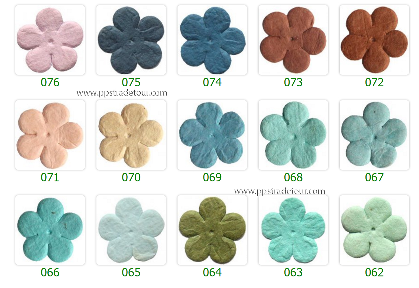 Mulberry Paper Flower Color Chart-6