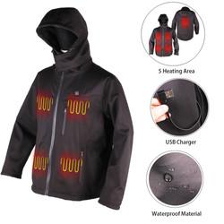 Far Infrared Technology  Custom Winter Clothing Men Lightweight USB Heated Down Jacket