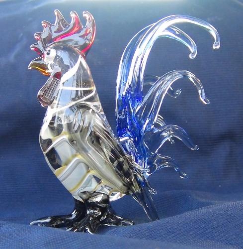 blown glass-Hen