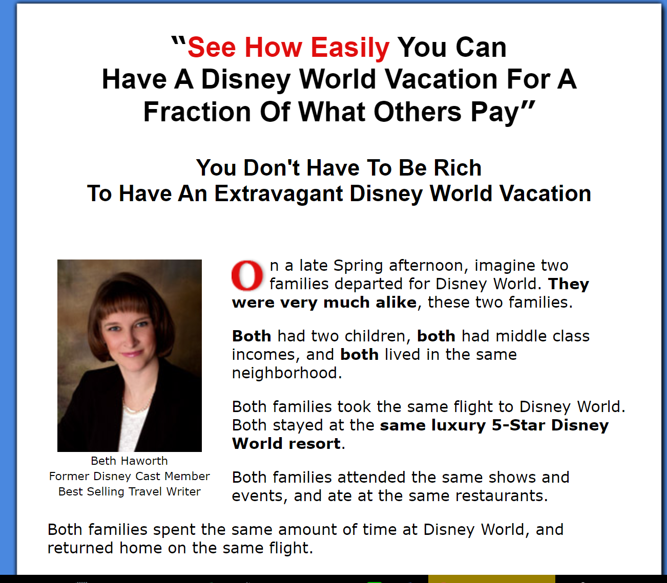 Disney World Vacation And Savings Travel