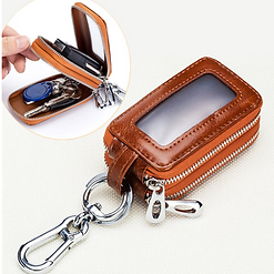 .Women Men Double Layers Genuine Leather