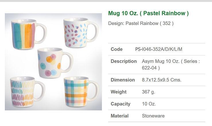 Ceramic mug 10 oz.- Pastel Rainbow.jpgai